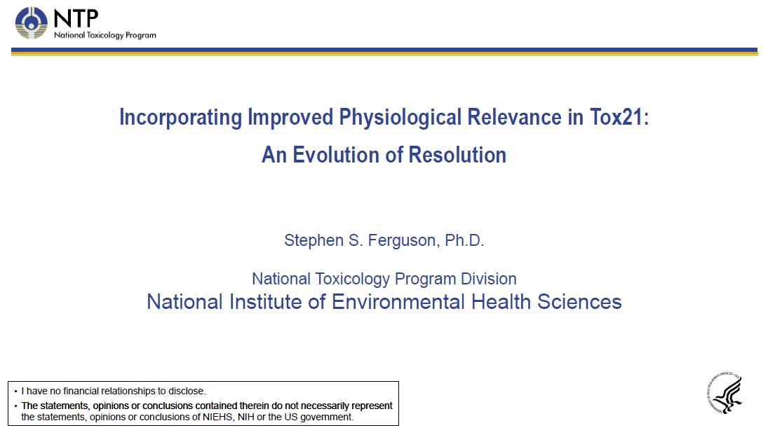 Dr Ferguson NTP presentation first page